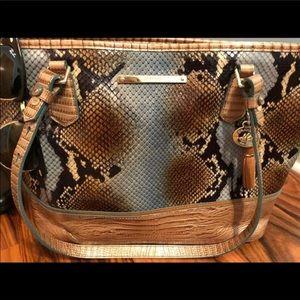 Authentic Brahmin snakeskin shoulder bag
